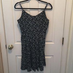 Old Navy Black Floral Dress